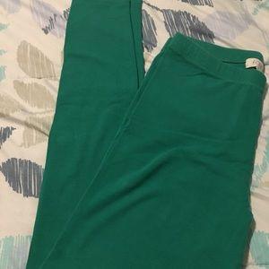 Green Leggings Small